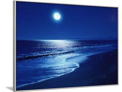 Full Moon Over the Sea--Framed Photographic Print
