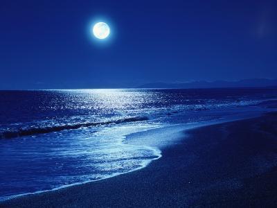 Full Moon Over the Sea--Premium Photographic Print
