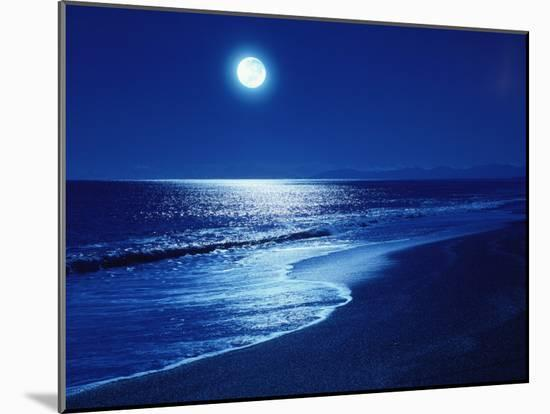 Full Moon Over the Sea-null-Mounted Photographic Print