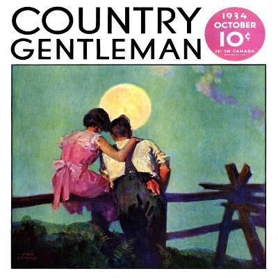 """""""Full Moon Romance,"""" Country Gentleman Cover, October 1, 1934-Phil Lyford-Giclee Print"""