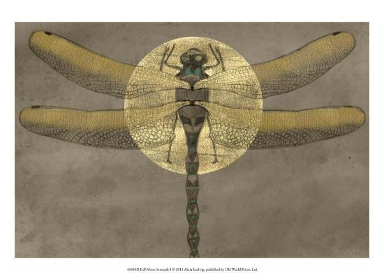 Full Moon Serenade I-Alicia Ludwig-Art Print