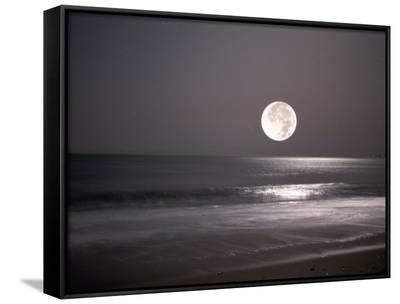Full Moon-Mitch Diamond-Framed Canvas Print