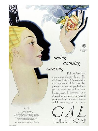 Full Page Colour Advertisement for Gal Toilet Soap from 1929--Giclee Print