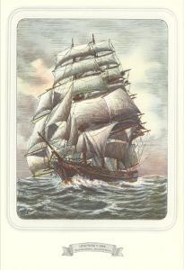 Full-Rigged Clipper Ship
