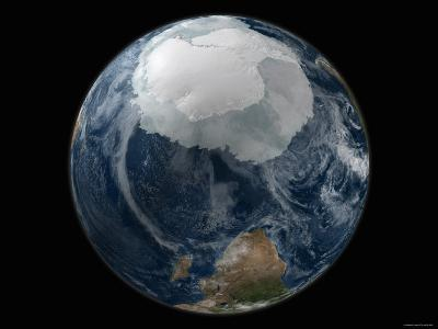 Full View of the Earth with the Full Antarctic Region Visible-Stocktrek Images-Photographic Print