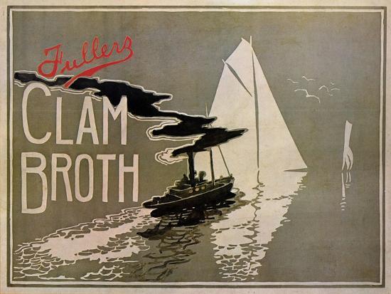Fuller's Clam Broth-W. H. Walker-Art Print