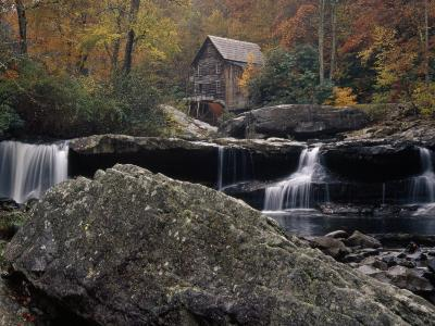 Fully Operational Grist Mill Sells its Products to Park Visitors-Raymond Gehman-Photographic Print