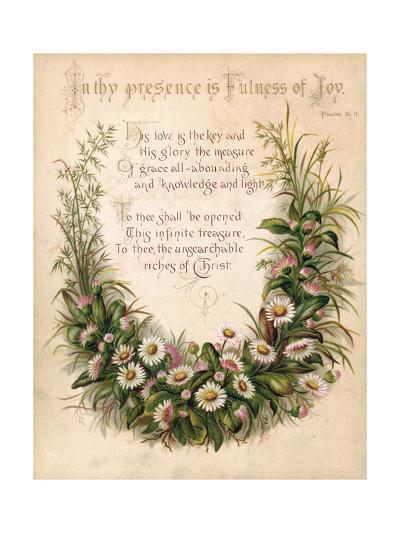 Fulness of Joy Plate-Frances Ridley Havergal-Giclee Print