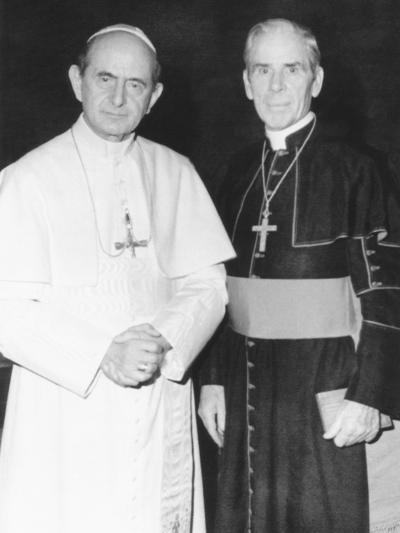 Fulton J. Sheen Following a Private Audience Pope Paul VI at the Vatican, March 17, 1971--Photo