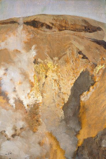 Fumarole of Mount Vesuvius, Circa 1871-Giuseppe De Nittis-Giclee Print