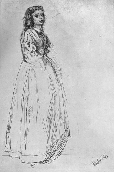 Fumette, Standing' 1859-James Abbott McNeill Whistler-Giclee Print