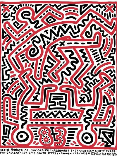Fun Gallery Exhibition, 1983-Keith Haring-Giclee Print