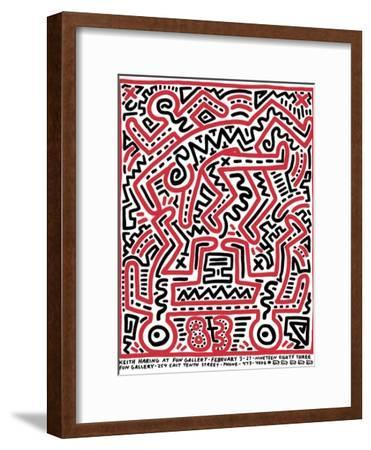 Fun Gallery Exhibition, 1983-Keith Haring-Framed Giclee Print