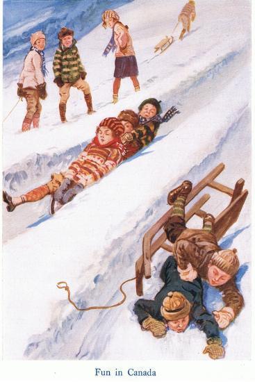 Fun in Canada-Gordon Frederick Browne-Giclee Print