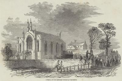 Funeral at the Catholic Church at Barrhead--Giclee Print