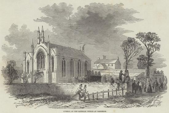 Funeral at the Catholic Church at Barrhead--Giclee Print