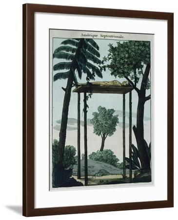 Funeral Garments of Chactas from Louisiana, 1811--Framed Giclee Print