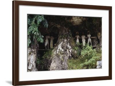 Funeral Niches with Tau Tau Mortuary Figures--Framed Giclee Print