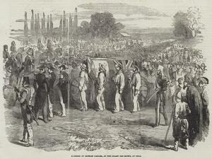 Funeral of Captain Parker, at the Champ Des Morts, at Pera