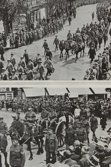 Funeral of Colonel Fitzgerald, Secretary to Lord Kitchener, Eastbourne, 1916--Photographic Print