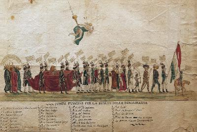 Funeral of Democracy of Undemocratic Satire, 1799, Italy--Giclee Print