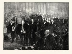 Funeral of Dr. Livingstone in Westminster Abbey, London, UK, 1874