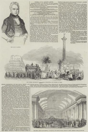 Funeral of Jacques Lafitte--Giclee Print