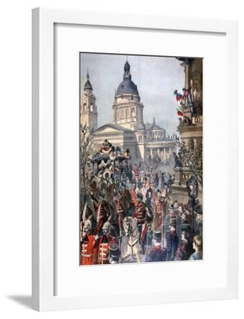 Funeral of Lajos Kossuth, Budapest, 21st March 1894-Paul Merwart-Framed Giclee Print