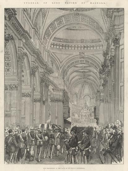 Funeral of Lord Napier of Magdala--Giclee Print