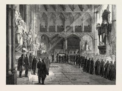 Funeral of Lord Palmerston: the Procession to the Grave in the Interior of Westminster Abbey--Giclee Print
