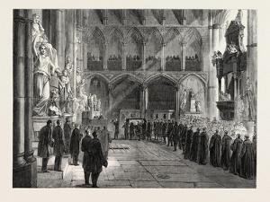 Funeral of Lord Palmerston: the Procession to the Grave in the Interior of Westminster Abbey