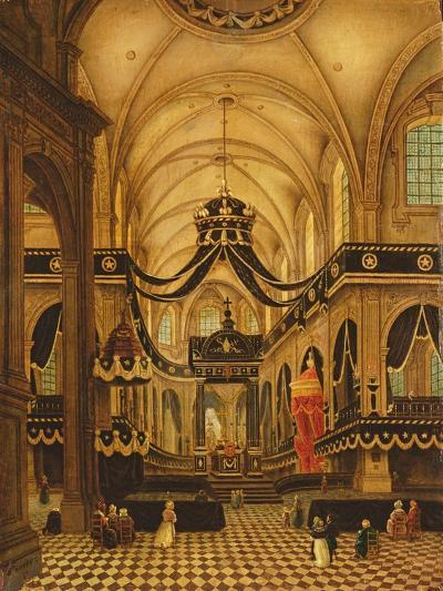 Funeral of Louis Belmas at Cambrai Cathedral-Antoine Louis Saint-Aubert-Giclee Print