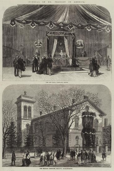 Funeral of Mr Peabody in America--Giclee Print