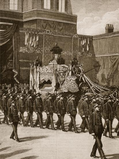Funeral of President Carnot: the Procession Leaving the Elysee--Giclee Print