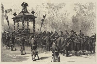 Funeral of President Garfield, Funeral Car Waiting to Receive the Coffin-William Heysham Overend-Giclee Print
