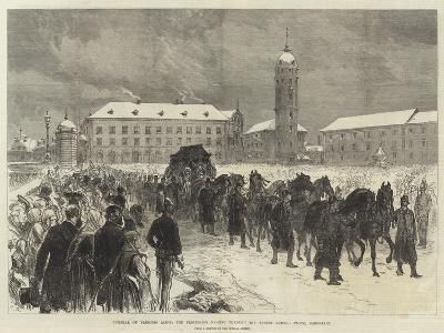 Funeral of Princess Alice, the Procession Passing Through the Ernest Ludwig Platz, Darmstadt-Charles Robinson-Giclee Print
