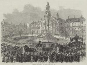 Funeral of Rossini at Paris