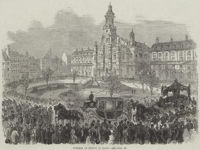 Funeral of Rossini at Paris--Giclee Print