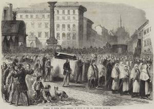 Funeral of Signor Emilio Dandolo at Milan on the 22nd February