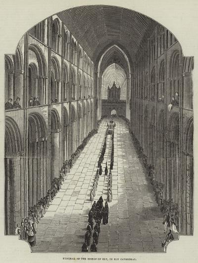 Funeral of the Bishop of Ely, in Ely Cathedral--Giclee Print