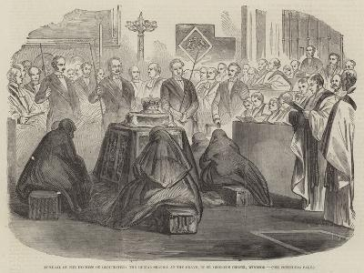 Funeral of the Duchess of Gloucester--Giclee Print