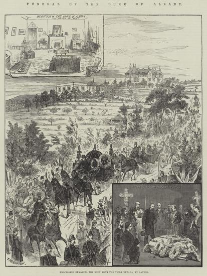 Funeral of the Duke of Albany, Procession Removing the Body from the Villa Nevada, at Cannes--Giclee Print