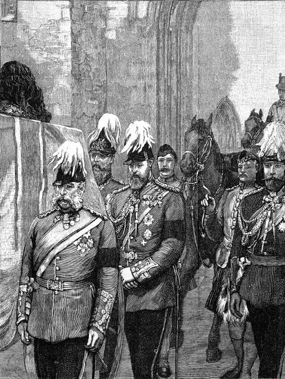 Funeral of the Duke of Albany: the Procession Entering Windsor Castle, 1884--Giclee Print