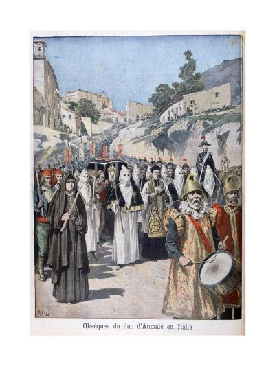 Funeral of the Duke of Aumale in Italy, 1897-Henri Meyer-Giclee Print