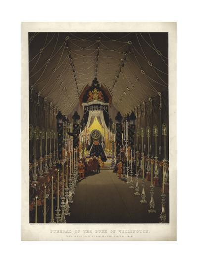 Funeral of the Duke of Wellington, the Lying in State in Chelsea Hospital, November 1852-Louis Haghe-Giclee Print