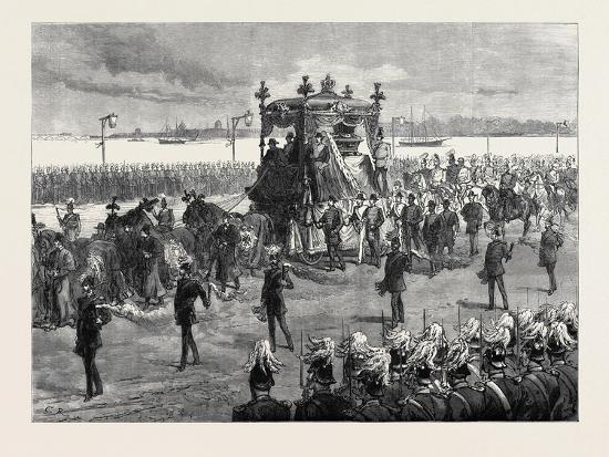 Funeral of the Empress of Russia at St. Petersburg: the Funeral Procession 1880--Giclee Print