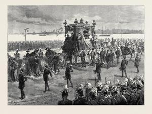 Funeral of the Empress of Russia at St. Petersburg: the Funeral Procession 1880
