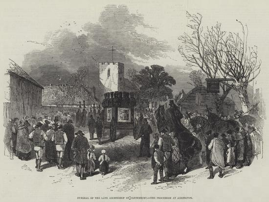 Funeral of the Late Archbishop of Canterbury, the Procession at Addington-Myles Birket Foster-Giclee Print