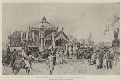 Funeral of the Late Czar, Procession Starting from the Railway Station at Moscow-Melton Prior-Giclee Print