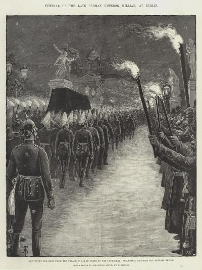 Funeral of the Late German Emperor William, at Berlin-Amedee Forestier-Giclee Print
